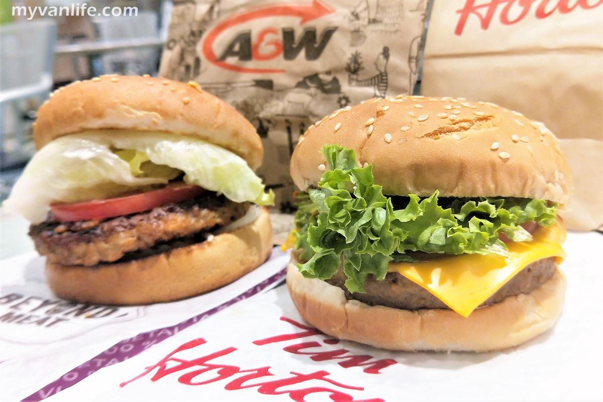溫哥華美食|AW和TH兩大速食店的素漢堡實測評比